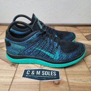 Nike Free 4.0 Flyknit Atomic Green Blue Running
